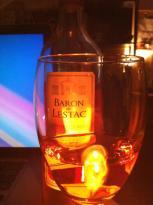 Celebrating something with pink wine