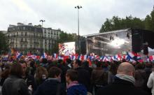May 21: A concert for equality at Place de la Bastille, to celebrate the French Constitutional Council's ruling. Unfortunately, we left early and missed Mika. :-(