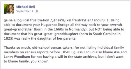Genealogical Frustration