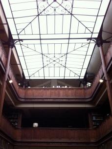 The skylight above the three-story reading room