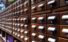 Old school card catalog