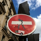 Even street signs become street art.