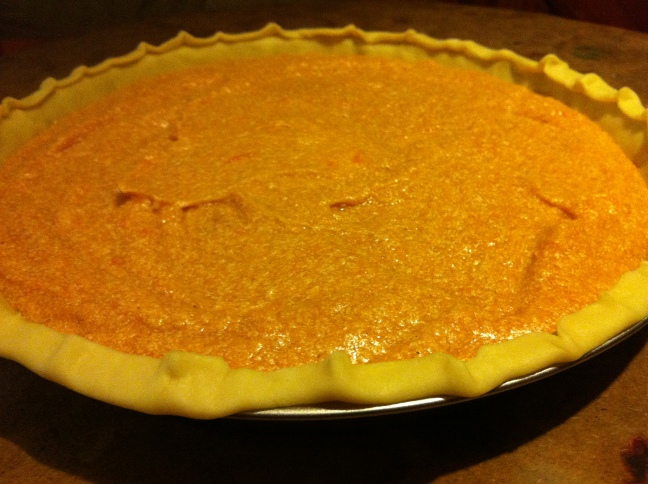 Sweet potato pie ... before going into the oven