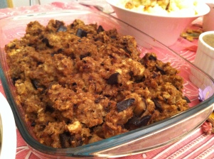 Eggplant stuffing. This was SO good!